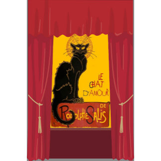 Le Chat D'Amour with Theatrical Curtain Border