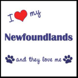 I Love My Newfoundlands (Multiple Dogs)
