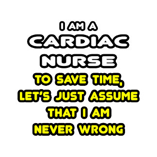Funny Cardiac Nurse T-Shirts and Gifts