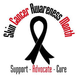 Skin Cancer Awareness Month Black Ribbon