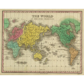 World On Mercator's Projection
