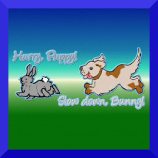 Hurry Puppy, Slow Down Bunny!