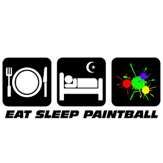 eat sleep paintball
