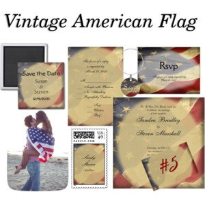 Distressed American Flag Wedding