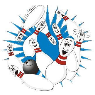 Bowling Pins Cartoon no Hands