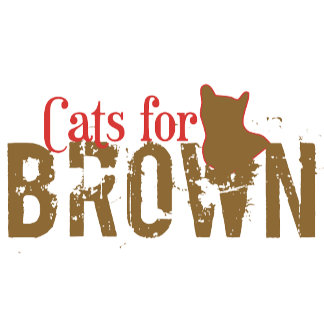 Cats for Brown - Scott Brown T-Shirts, Merchandise