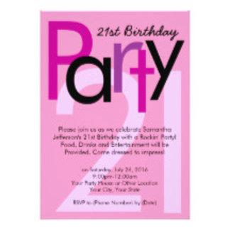 18th, 21st Birthday Party Invitations