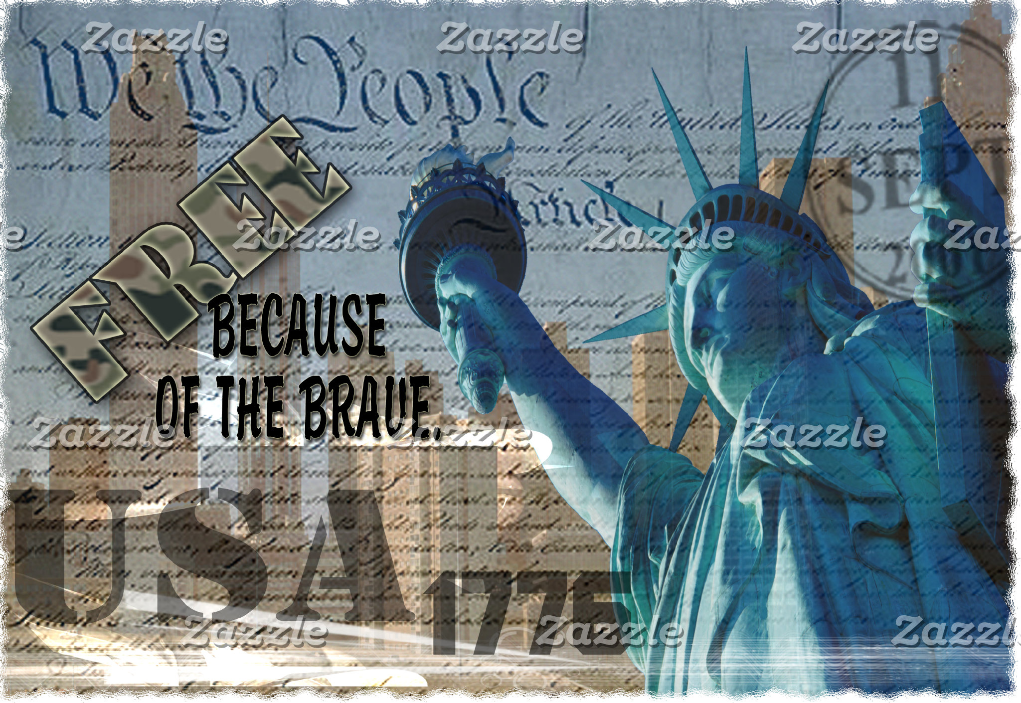 FREE BECAUSE OF THE BRAVE! STATUE OF LIBERTY