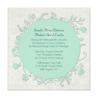 Mint Green Floral Round Wedding Set