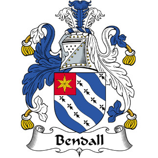 Bendall Family Crest / Coat of Arms