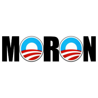 Moron Obama anti Obama T shirts-moron logo