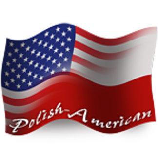 Polish-American Waving Flags