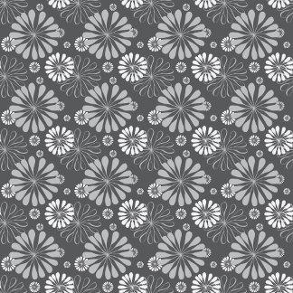 Silver Grey Floral