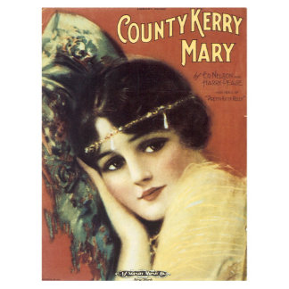 County Kerry Mary - Vintage Song Sheet Music Art