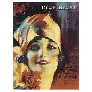 Dear Heart - Vintage Song Sheet Music Art