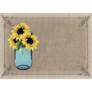 Mason Jar - Sunflower