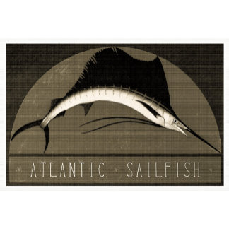 Atlantic Sailfish Vintage Black & White