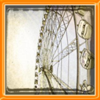 Black and White Ferris Wheel Design