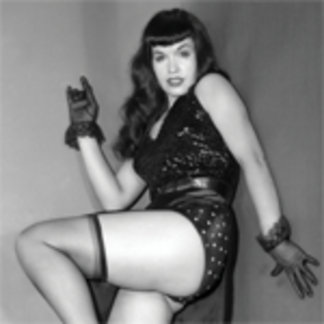 Bettie Page Vintage 50s Pinup Kicking Up Her Heels