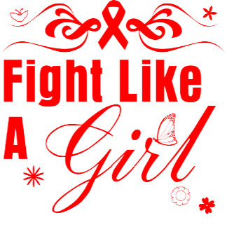 Blood Cancer Fight Like A Girl Ornate