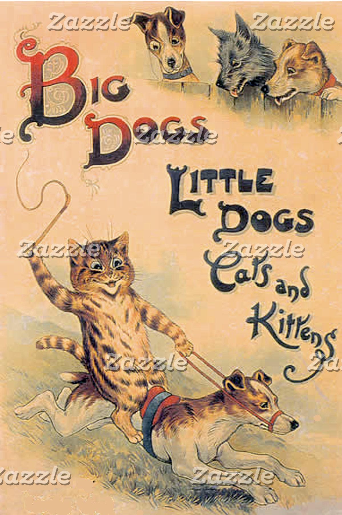 Big Dogs Little Dogs (Vintage Image)