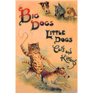 Big Dogs Little Dogs (Vintage Image)