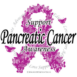 Pancreatic Cancer Ribbon of Butterflies