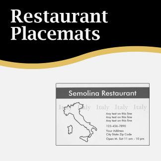 Restaurant Placemats