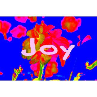 abstract flower magenta blue joy