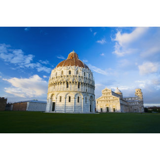 Italy, Pisa, Duomo, Leaning Towerand Field of