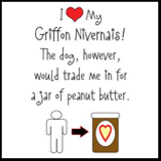 I Love Griffon Nivernais, Dog Loves Peanut Butter