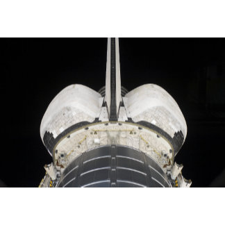 The aft portion of the Space Shuttle Endeavour