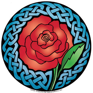Celtic Stained Glass Rose