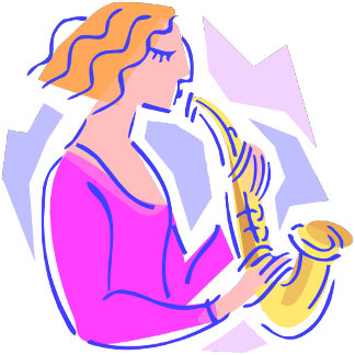 Pink Lady Saxophonist