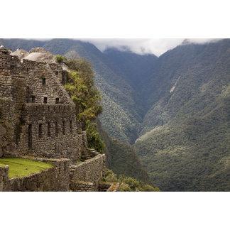 South America, Peru, Machu Picchu. Stone ruins