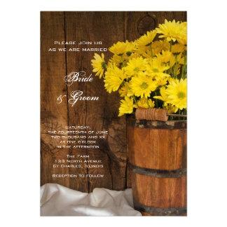 Wooden Bucket Yellow Daisies Wedding