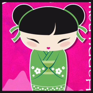 Green kokeshi