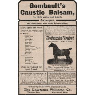 Caustic Balsam - German Ad