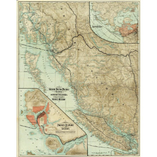 Map Of The Grand Trunk Pacific Railway