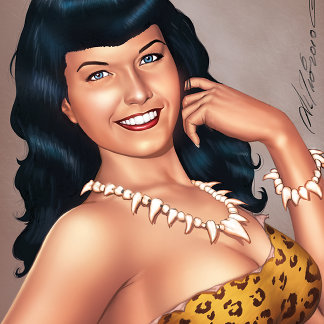 Bettie Page in Jungle Girl Outfit by Al Rio