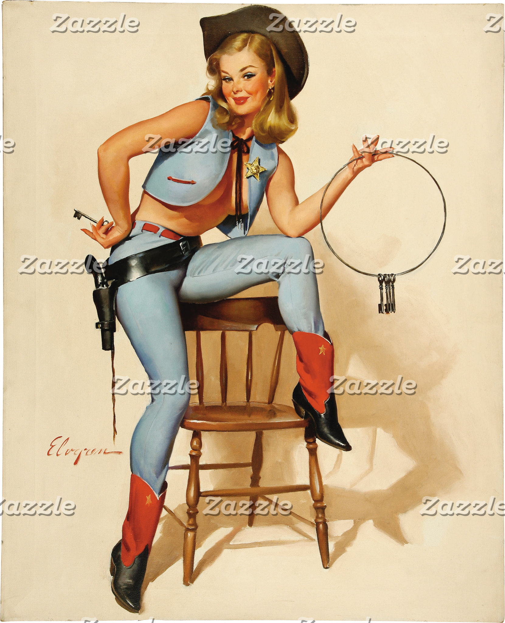 Cowgirl Pin-up Girl