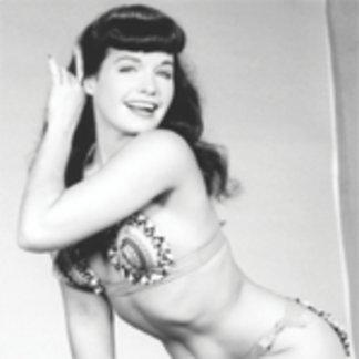 Bettie Page Vintage Bikini Pinup with High Heels
