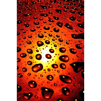 Raindrops on Copper Metal