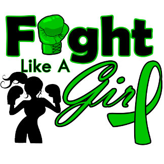 Cerebral Palsy Fight Like A Girl Silhouette