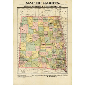 Map of Dakota