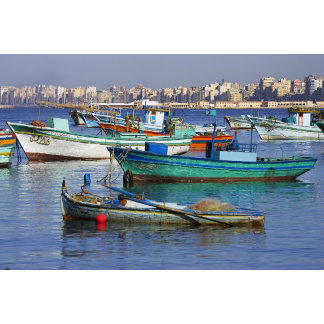 Colorful fishing boats in the Harbor of