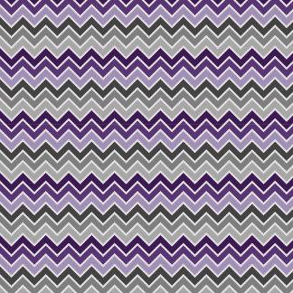 Purple and Gray Chevron