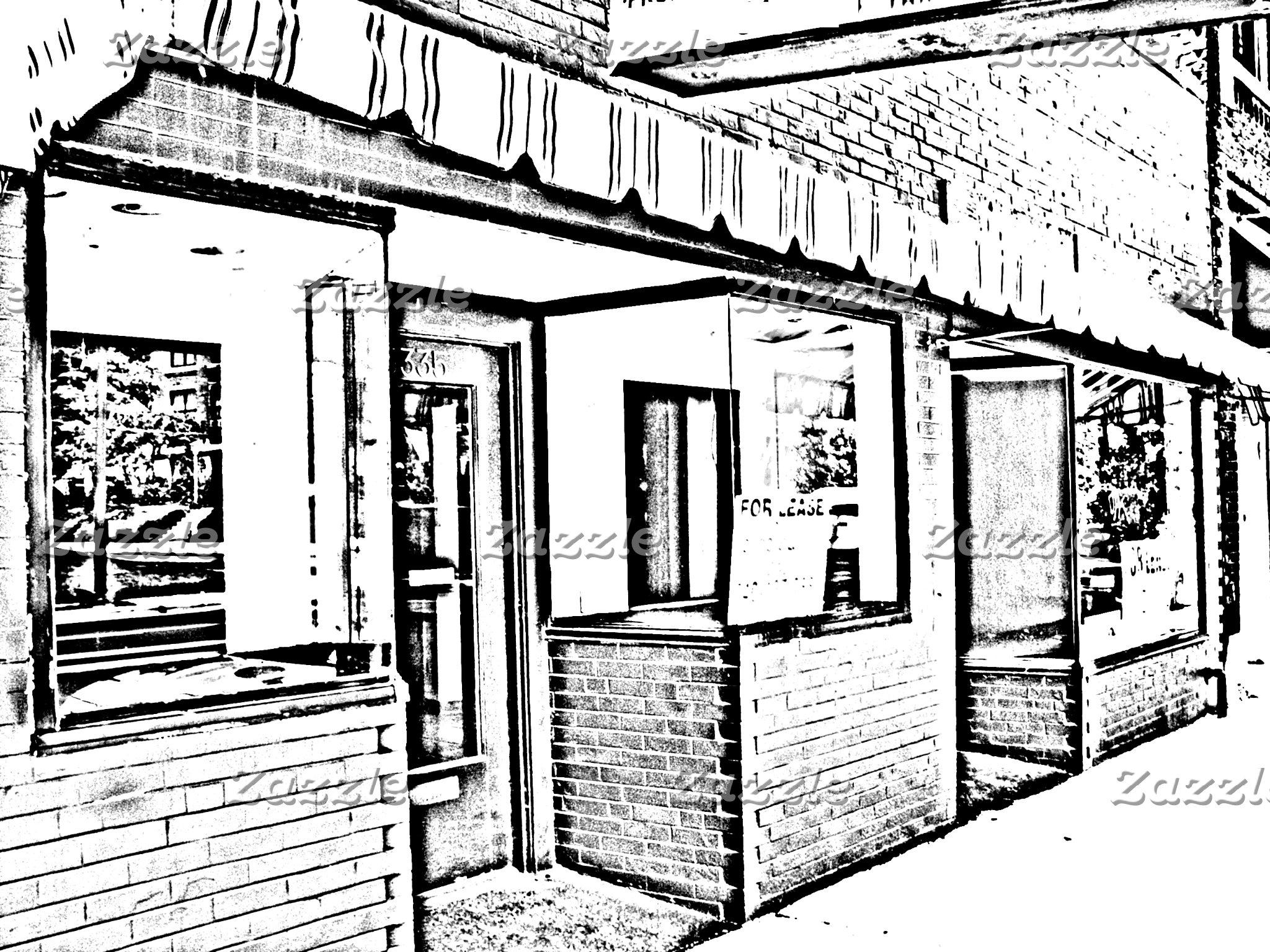 Older Clintonville Storefronts, Columbus, Ohio