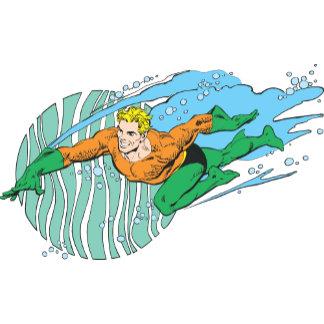 Aquaman Leaps Left
