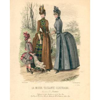 Ladies Fashion Illustrations & Engravings